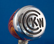 BlowsMeAway Productions custom wood bullet microphone - Initials