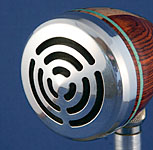 BlowsMeAway Productions custom wood bullet microphone -