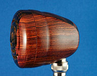 BlowsMeAway Productions custom wood bullet microphone