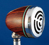BlowsMeAway Productions custom wood bullet microphone - inlay