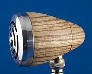 BlowsMeAway Productions custom wood bullet microphone - stealth volume control